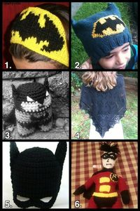 Free crochet pattern- Batman hat!