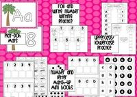 Chicka Chicka Mini Unit: Math and Literacy. Beginning sound practice - Uppercase/lowercase matching cards - Beginning sound cards - Alphabet and Number work mats - Alphabet and Number coloring work mats - Number matching cards 1-10 - Roll and write center...
