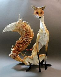 Tall Fox with Village by ~creaturesfromel