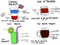 Avengers Themed Cocktails