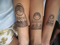 Sisters tattoos...I love this idea even though I doubt I'd do it...