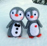 Kawaii Amigurumi Penguin couple crochet pattern'8482;' by HandmadeKitty=^ ^=, via Flickr
