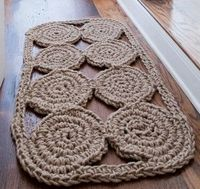 jute rope crocheted welcome mat