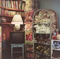 Yarn shelves