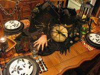 Spooky Halloween Witch Tablescape