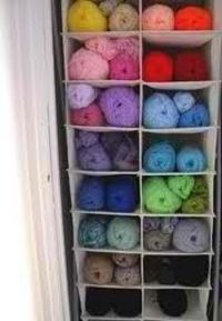 shoe rack for organizing your yarn