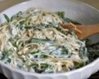 Gorgonzola linguine with sage & green beans