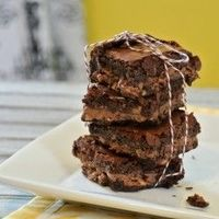 Symphony Bar Brownies - Rich, fudgy and intense chocolate flavor with a toffee candy bar center
