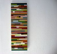 12x36 painted wood art sculpture - made to order