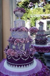 Purple cake. Talk about going over the top with color