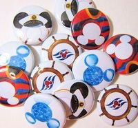 Disney Cruise Line Fish Extender Pinback Buttons 20 by MigotoChou, $15.00
