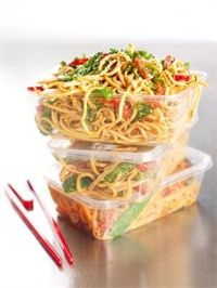 SESAME PEANUT NOODLES - I would replace the egg noodles with soba noodles... sounds yummy :)