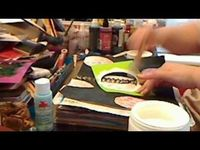 How to use colorwash with gesso by JournalArtista