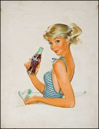 Vintage Coca-Cola Adverts by Pete Hawley