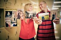 High school sweethearts. Love the idea of using old photos!