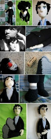 Oh. My. Lord. Will someone please crochet me a Sherlock? PLEASE?