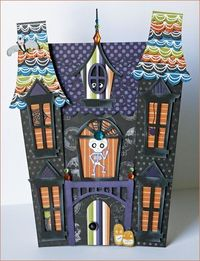 A template that you can use to make your own haunted house.