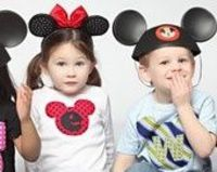 Mickey Mouse Shirt, Disney Vacation Shirt, for your little Mickey or Minnie Mouse, with or without initial applique