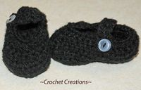 Crochet Creative Creations- Free Patterns and Instructions: Crochet Mary Jane slippers