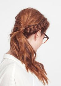 A mix between braids and pony.