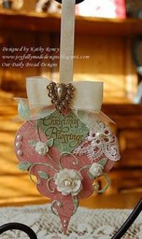 Beautifully embellished ornament by Joyfully Made Designs