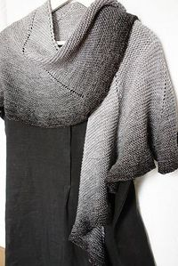 subtle shawl pattern ... love the slow gradation