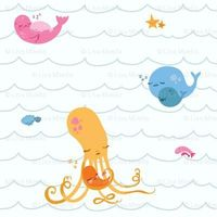 This is so cute...sea creatures rocked in a cradle!