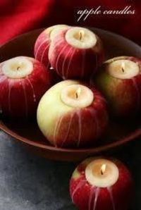 Apple Candles from Halloween with Matthew Mead - picture only