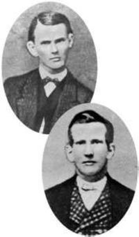 Jesse (top) and Frank James