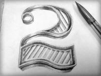 A freehand '2' #Typography