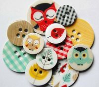 WOODLAND CHIPBOARD BUTTONS $8.00