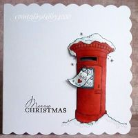 Molly Blooms Christmas Post Box