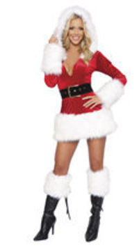 This Sexy White Plush Mini Dress will keep you warm at you next Holiday Party.