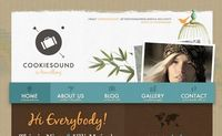 Cookiesound - Web Design Inspiration