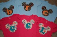 Mickey Mouse Shirt, Disney Vacation Shirt, for your little Mickey or Minnie Mouse, with or without initial applique. $29.95, via Etsy.