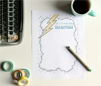 brainstorm printable