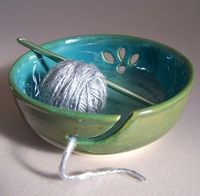 I want one of these bowls to hold my yarn! How cool?!