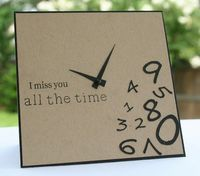 I miss You - clock/numbers