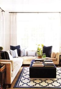 great game room color combo ...Navy/Beige/White