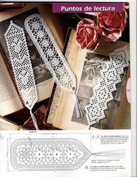 lot of crochet bookmark patterns