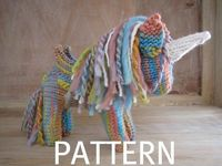 Pegasus Unicorn Knitting Pattern PDF by mamma4earth on Etsy, $5.00