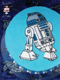 R2D2 Star Wars Birthday Cake