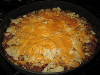Nacho Skillet: This recipe is a staple in our household. It is quick, easy, and delicious!