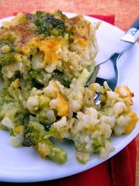 Broccoli Cheese Brown Rice. No soup cans.