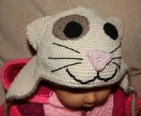 Naughty Kitty Baby Bonnet