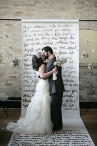 Budget friendly love poem backdrop