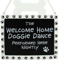 haha so cute, to hang near your front door. #dog #sign