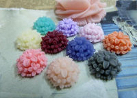 10pcs 14mm petal matte resin flower D548