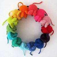 Rainbow Mouse Pattern by PlanetPennyUK on Etsy, $4.00