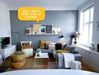 gray accent wall, great layout with sectional